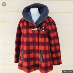 Freepeople plaid coat with bell sleeves